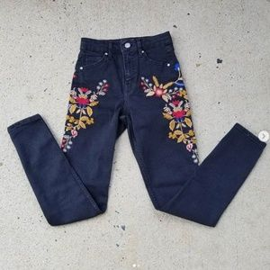 ASOS embroidered jeans size 25